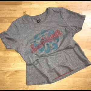 Nike Embroidered Gray T-shirt